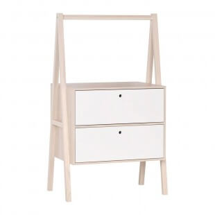 Commode 2  tiroirs blancs Collection Spot Young