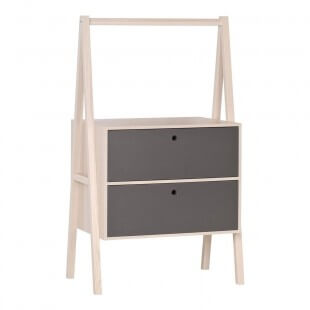 Commode 2  tiroirs noirs Collection Spot Young