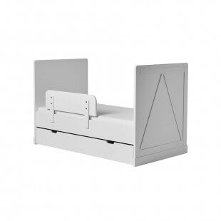 Lit évolutif 140x70 Marie avec tiroir et barrière