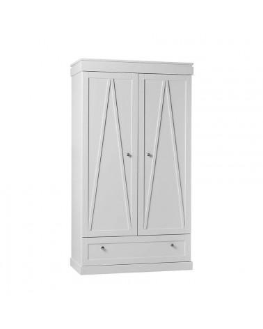 Armoire 2 portes blanche Marie