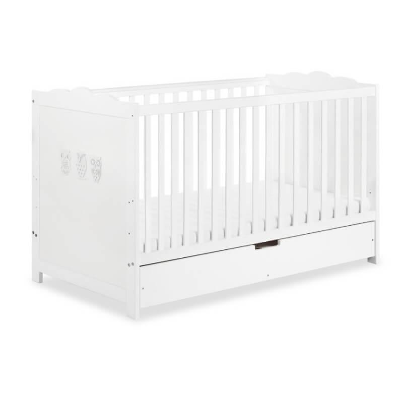 Lit bébé évolutif avec tiroir Hibou