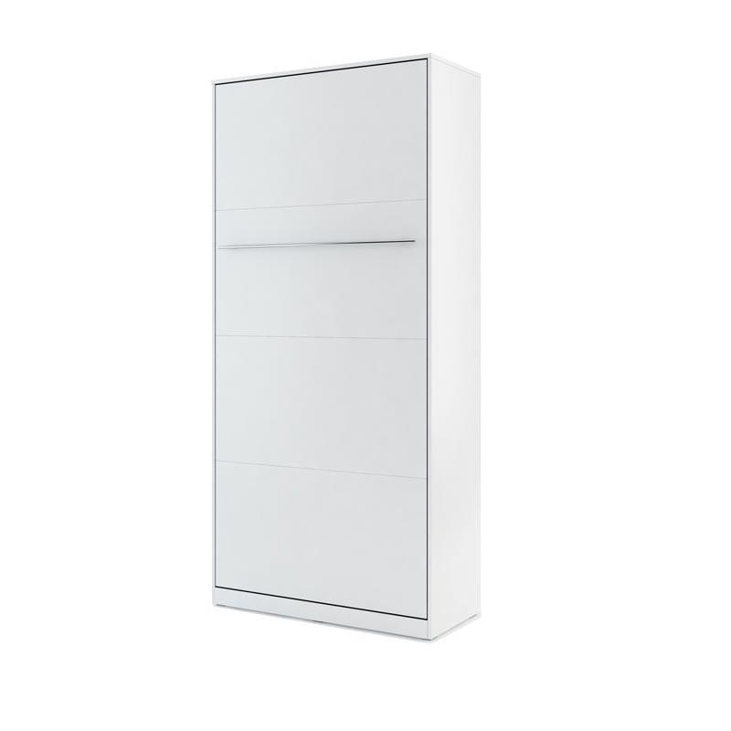 Lit armoire escamotable vertical - blanc mat 90x200