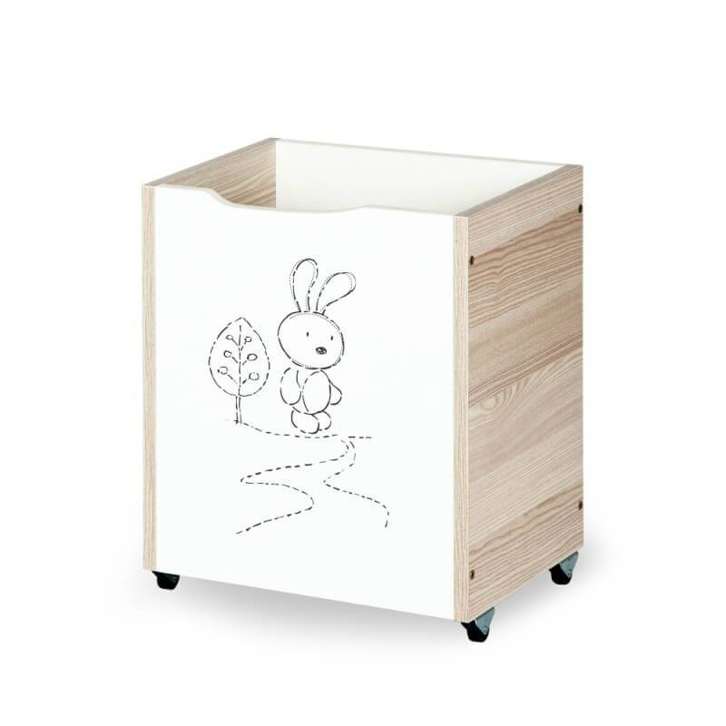 petit coffre jouets design lapin pour b b. Black Bedroom Furniture Sets. Home Design Ideas