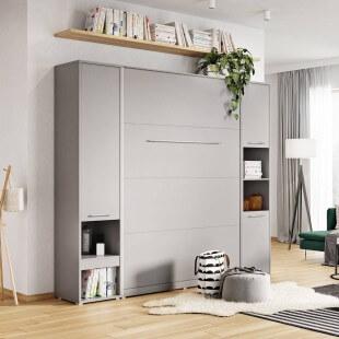Rangement gris pour lit escamotable
