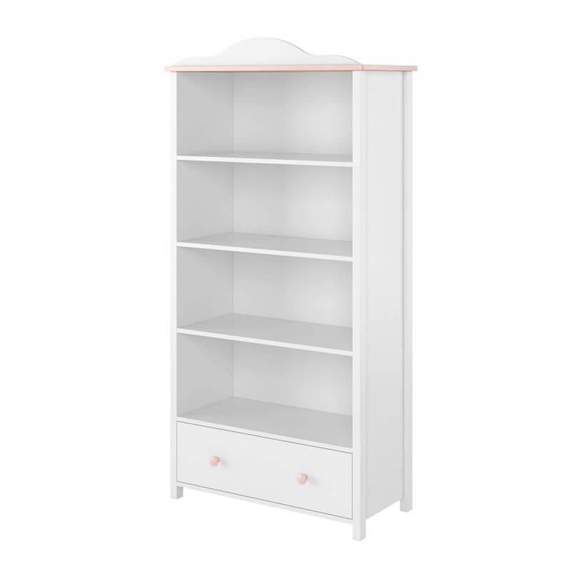 Bibliothèque rose et blanche Luna
