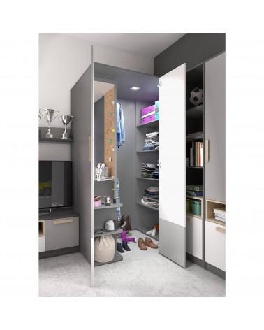 Grande armoire garde-robe Pok gauche dans une chambre
