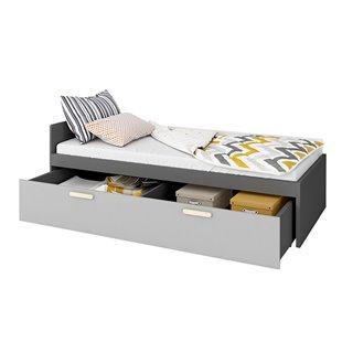 Lit junior 200x90 Pok avec grand tiroir de lit