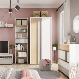 Commode 4 tiroirs Imola dans une chambre ado