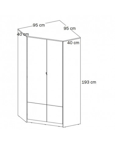 Dimensions de l'armoire d'angle collection POK