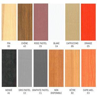 Lit enfant superposé MAXIMILIEN - 3 couchages personnalisable dans ces couleurs, nous contacter pour personnaliser.
