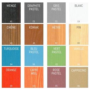 Lit enfant superposé SEVERINE avec lit gigogne personnalisable dans ces couleurs, nous contacter pour personnaliser.