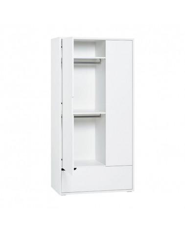 Armoire 2 portes blanche Milk pour chambre bébé