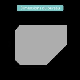 Dimensions du bureau Milo