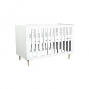 Lit bébé à barreaux SCANDI 120x60 cm sommier position haute
