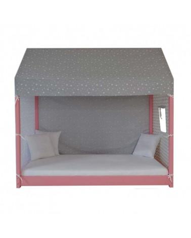 Tente pour lit cabane enfant 160x80 cm décor étoile