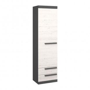 Armoire une porte TREND en couleurs pin andersen et graphite pour chambre ado