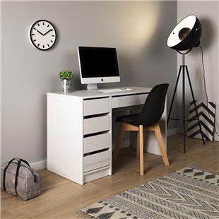 Bureau avec tiroirs ADA en blanc brillant