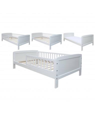 Lit Junior Blanc 140 cm x 70 cm avec barrières