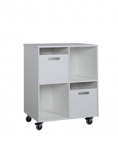 Bibliothèque Mobile avec 2 boites de rangement