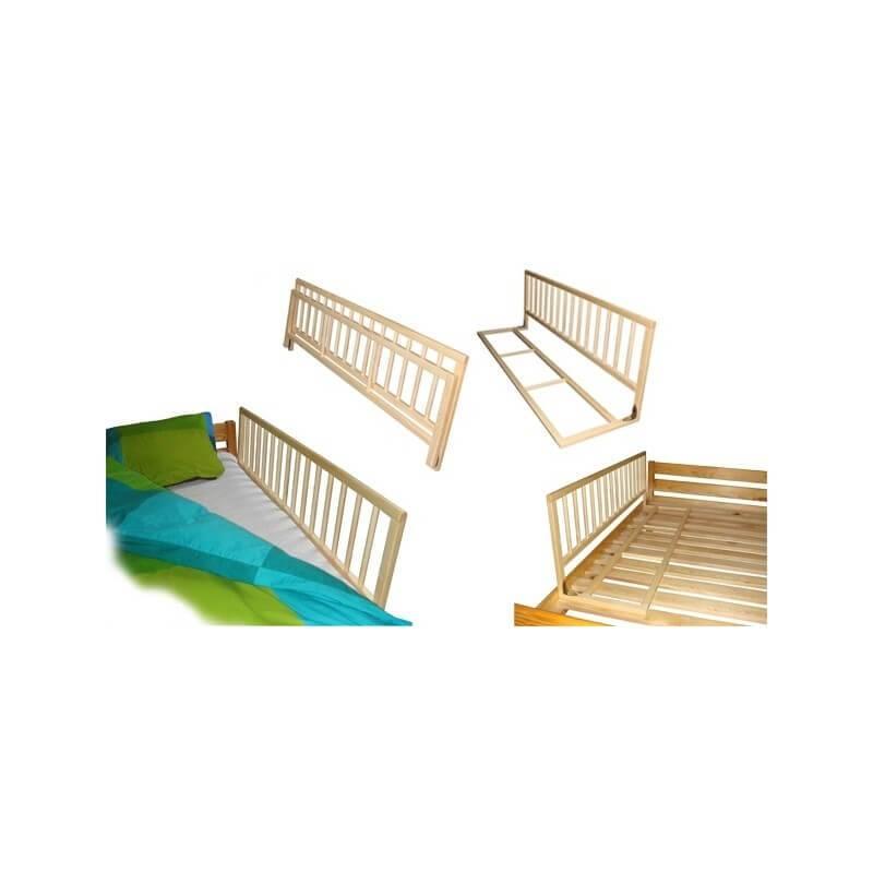 Barrière universelle pour lit enfant couleur pin