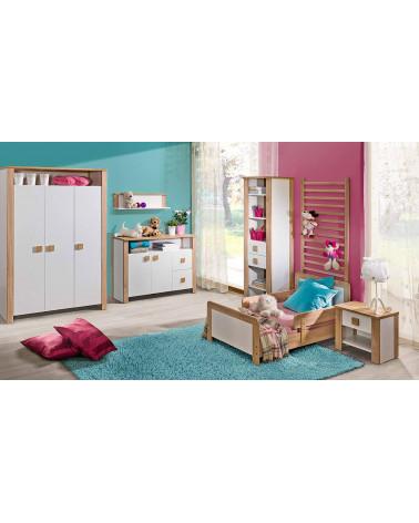 Chambre enfant avec le lit Bébé Lara 140 x 70