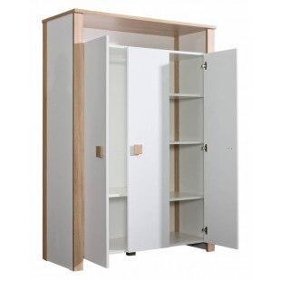 Armoire Lara trois portes ouvertes