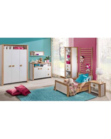 Chambre enfant avec une Bibliothèque Lara Chêne