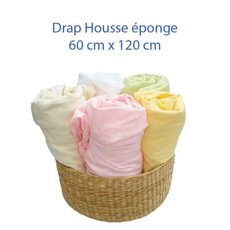 Drap Housse 120 x 60 pour lit bébé disponible en 6 couleurs