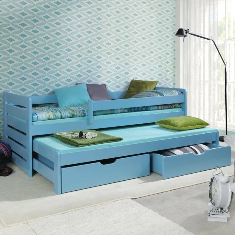 lit gar on gigogne thomas ii avec barri res anti chute. Black Bedroom Furniture Sets. Home Design Ideas