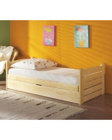 Lit Enfant Ola 190 x 80 couleur Pin avec tiroir