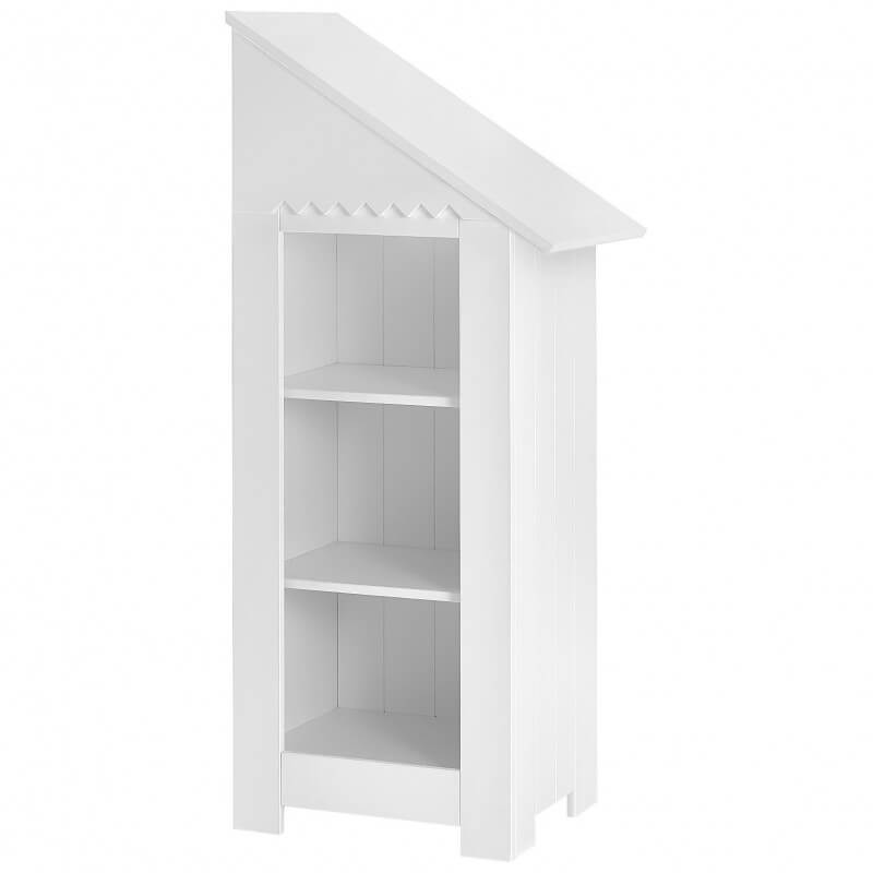 Mini Bibliothèque Cabine de Plage Blanche en MDF