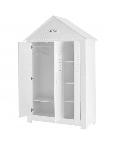 Armoire Cabine de Plage Haute avec trois portes ouvertes