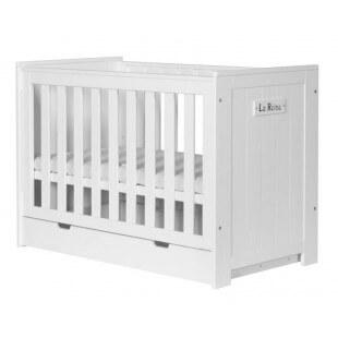 Lit Bébé Barcelone blanc avec tiroir de lit