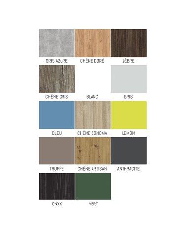 Damier de couleurs pour les tiroirs et barrières