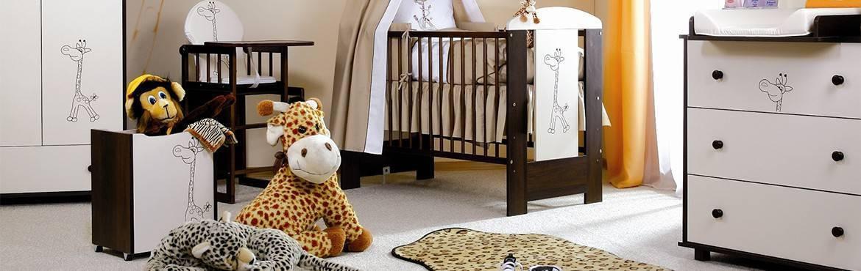 Mobilier chambre de bébé, collection Girafe pour une ambiance savane