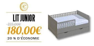 Lit junior gris Petite Chambre